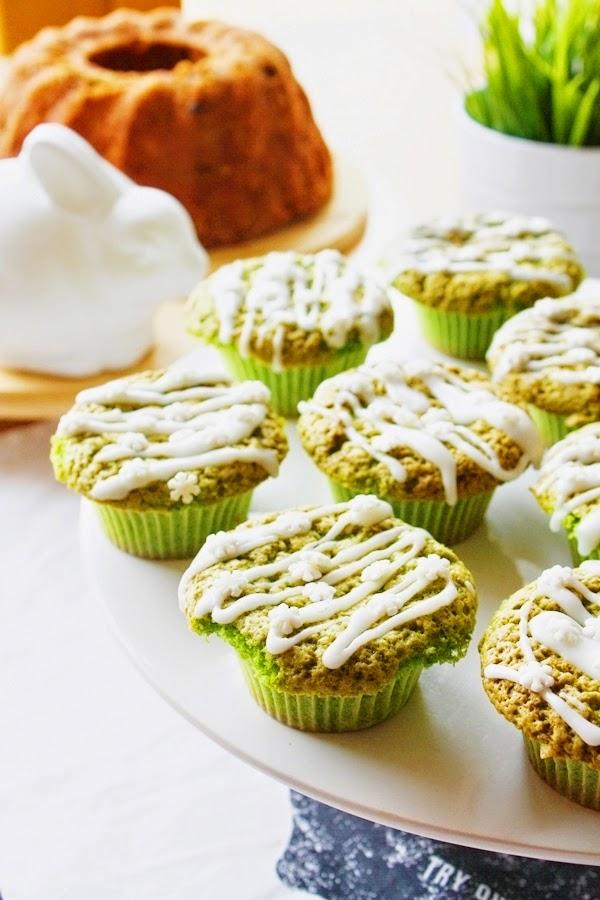 Zielone babeczki szpinakowe na słodko