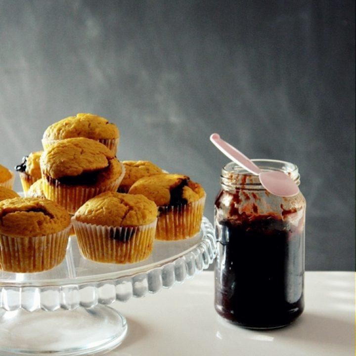 Muffiny dyniowe z powidłami śliwkowymi